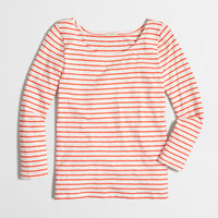 Factory striped boatneck tee