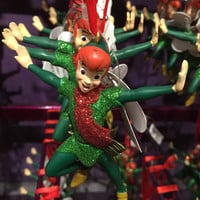disney parks christmas peter pan glitter resin ornament new with tag