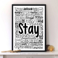 Stay Calm, Foolish, positive, focused and many more motivating Quotes For wall decor