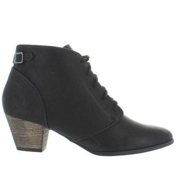 CREYONIG Chelsea Crew Lord - Black Lace-Up Bootie
