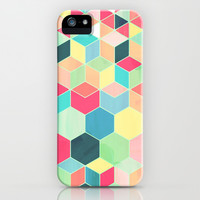 Yummy Summer Colour Honeycomb Pattern iPhone & iPod Case by micklyn | Society6