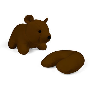 Zip And Flip Bear Head Rest Brown - Kikkerland Design Inc