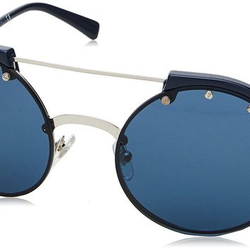 Versace Women's Studded Brow Bar Sunglasses