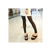 Women Black Rayon Leggings