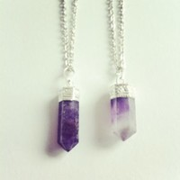 Empty Casket  — Amethyst Crystal Point necklace