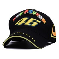 Car Motocycle Racing Moto Gp Rossi Vr 46 The Doctor Embroidery Anapback Baseball Cap free Leisure Baseball Caps Baseball Caps