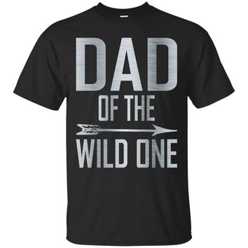 Funny Shirt Awesome Dad Of The Wild One Thing 1st Birthday_Black