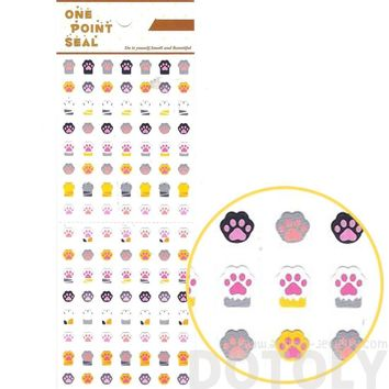 Kitty Cat Paw Print Shaped Animal Sticker Envelope Seal for Scrapbooking