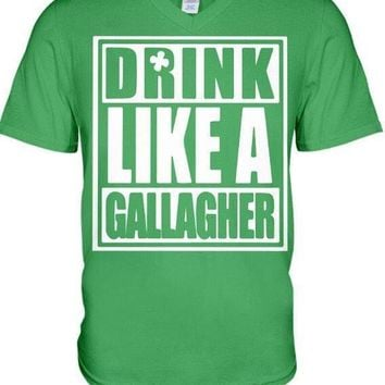 "Shameless ""Drink Like a Gallagher"" St. Patty's Day T-Shirt"