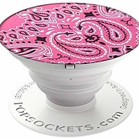 PopSockets: Collapsible Grip & Stand for Phones and Tablets - Pink Bandana