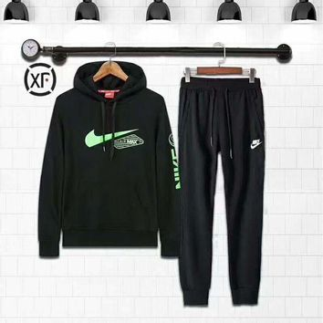 DCCKB62 Nike Fashion Casual Hoodie Sweater Pants Trousers Set Two-Piece G-MLDWX