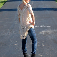 All Natural Crochet Knit Top
