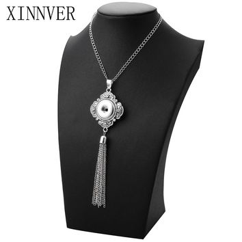 Interchangeable DIY Button Jewelry 18mm Xinnver Snap Pendants Necklace ZG036
