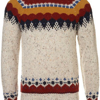Cream Yoke Pattern Jumper