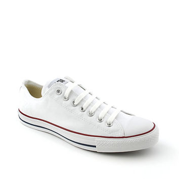 Converse Mens All Star Lo White Casual Lace Up Sneaker | Shiekh Shoes
