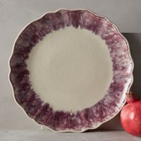 Smoke Rings Dinner Plate by Anthropologie in Purple Size: Dinner Dinnerware