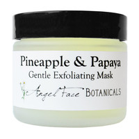 Pineapple and Papaya Facial Mask - Organic Gentle Exfoliating Enzyme Face Mask with Soothing Chamomile and Comfrey for All Skin Types 2.3 oz