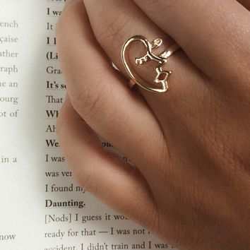 Marsellus Abstract Face Ring