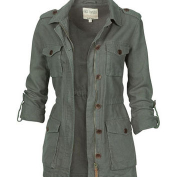 Linen Military Jacket at Fat Face