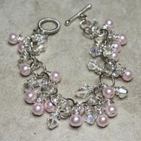 Dreamsicle ChaCha Bracelet by JujuBeeJewelryDesigns on Zibbet