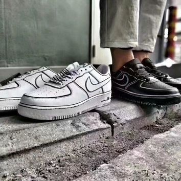 Nike Air Force 1 Unisex Casual Fashion Comics Hand Painted Low Help Plate Shoes Couple Sneakers