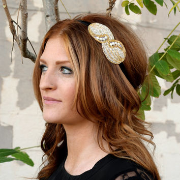 The Eva - Great Gatsby party headband, 1920s hair, art deco headpiece, flapper costume, Prohibition party, speakeasy bar