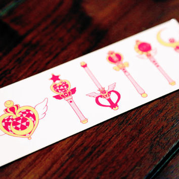 Sailor Moon Temporary Tattoos