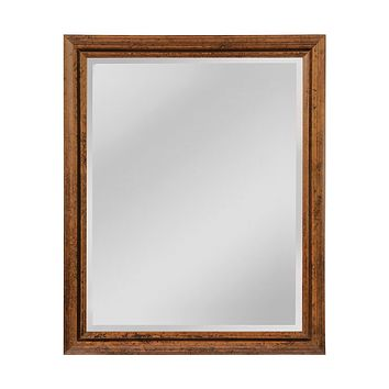 Groove Frame Beveled Wall Mirror - Medium