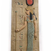 Isis Holding Staff Egyptian Tomb Large Wall Relief 21.5H