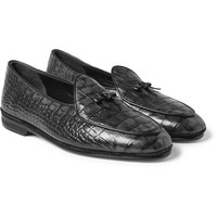 Rubinacci - Croc-Effect Leather Loafers
