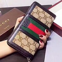 GUCCI New fashion more letter leather wallet purse handbag