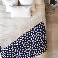 Rachael Taylor Urban Dot Midnight Fleece Throw Blanket