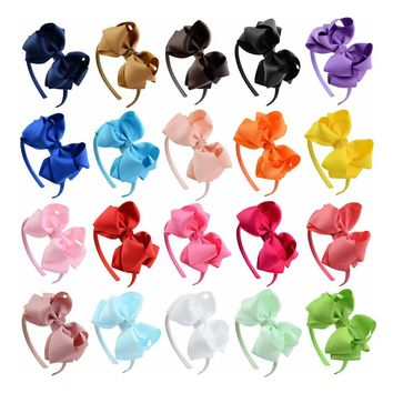 20 PCS/Lot Boutique Hair Clasp Loop Headbands Tiara Band Accessories Baby Girl Toddlers Infant Children