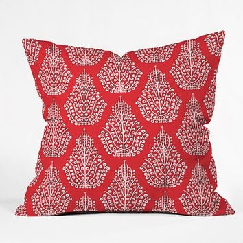 Sharon Turner Spirit Red Throw Pillow
