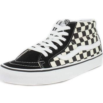Vans Sk8-Mid Reissue Checkerboard/True White VN0A391FQXH Skate Shoe