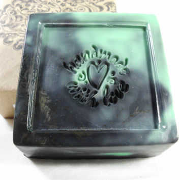 Wicked scented Handmade Shea Butter Soap 4 oz by BlackWillowSoaps