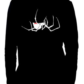 Death Black Widow Spider Long Sleeve Shirt Occult Alternative Clothing Arachnid