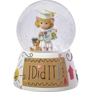 """I Did It!"" Resin Musical Snow Globe"