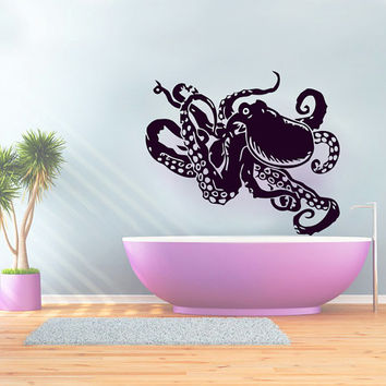 Wall Decals Octopus Decal Vinyl Sticker Bathroom Window Nursery Children Bedroom Hall Home Decor Dorm Interior Art Murals MN512