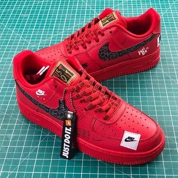 Nike Air Force 1 Low Af1 Just Do It Red   Ar7719-106 Sport Shoes - Best Online Sale
