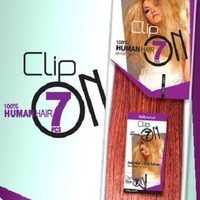 Hollywood 100% Human Hair 7 pieces Clip On Extension 20""