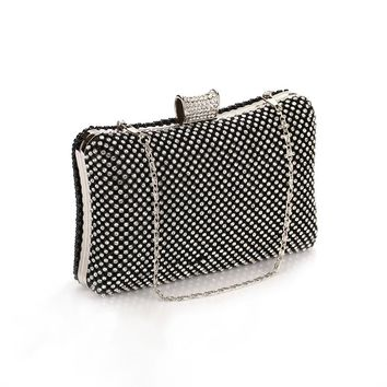 Vintage Beading Diamonds Clutches Phone Wallet Purse Handbags Fashion Ladies Casual Dinner Clutch Hand Bag with Interior Compart