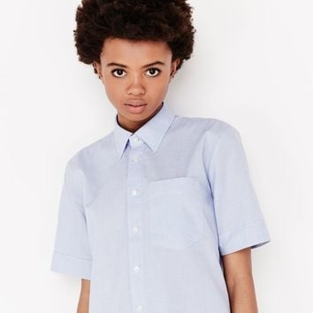 Core Boyfriend Pocket Shirt | White/Lavendel Blue | G-Star RAW®