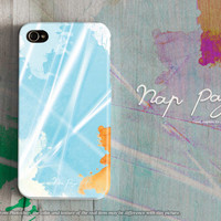 Apple iphone case for iphone iphone 5 iphone 5s iphone 5c iphone 4 iphone 4s iPhone 3Gs : abstract blue water color