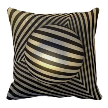 Boxed Orb Throw Pillow