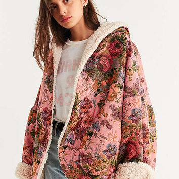 UO Beatriz Reversible Cozy Coat | Urban Outfitters