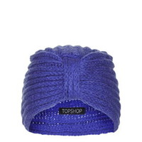 Knitted Turban - Cobalt