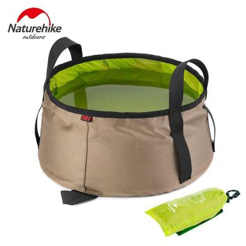 10L Water Washbasin Ultralight Portable Outdoor Nylon Folding Wash Bag for Camping or Travel