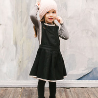 Vierra Rose Isla Jumper Dress in Black - D3016