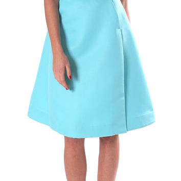 Soft Play Midi Skirt - Aqua Blue